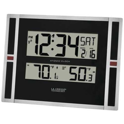 La Crosse Technology 513-149 Indoor/Outdoor Thermometer & Atomic Clock