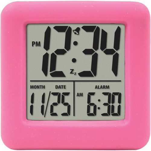 Equity by La Crosse 70902 Soft Cube LCD Alarm Clock (Pink)