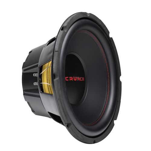 Crunch CRW12D4 CRW Series 12-Inch 800-Watt Dual-Voice-Coil Dual-4-Ohm Subwoofer