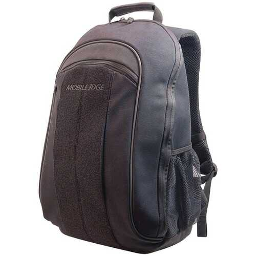 "Mobile Edge MECBP1 17.3"" Eco-Friendly Canvas Backpack (Black)"