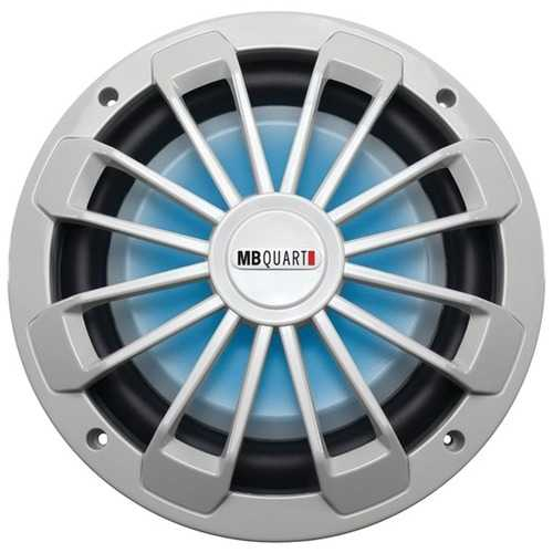 "MB Quart NW1-254L Nautic Series 10"" 600-Watt Shallow Subwoofer (With LED Illumination)"