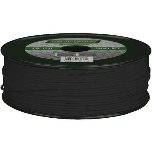 Install Bay PWBK18500 18-Gauge Primary Wire, 500ft (Black)