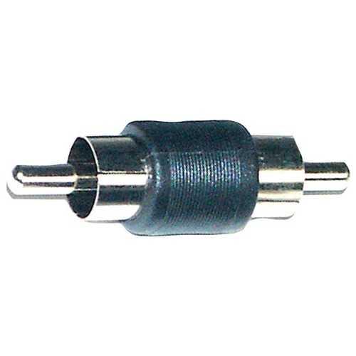 Install Bay RCA100-BM10 RCA-Barrel Male Nickel Connectors, 10 pk
