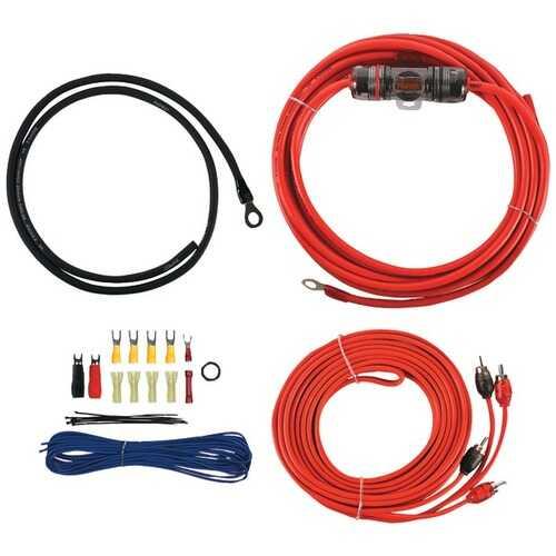 T-Spec V6-RAK8 v6 SERIES 8-Gauge 400-Watt Amp Installation Kit with RCA Cables