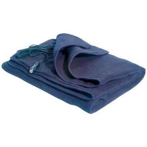 MAXSA Innovations 20013 Comfy Cruise 12-Volt Heated Travel Blanket (Navy)