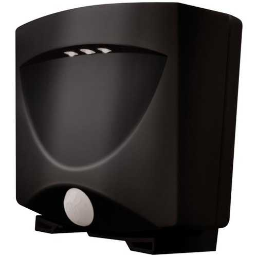 MAXSA Innovations 40342 Battery-Powered Motion-Activated Outdoor Night-Light (Black/Dark Bronze)
