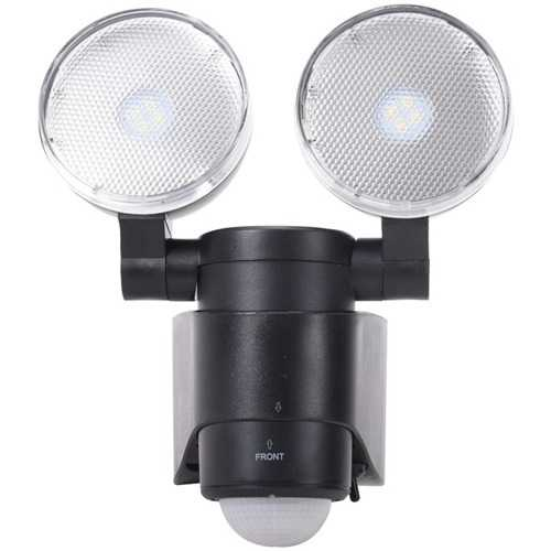 MAXSA Innovations 43218-RS Battery-Powered Motion-Activated Dual-Head LED Security Spotlight