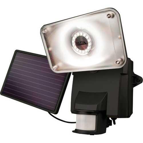 MAXSA Innovations 44641 Motion-Activated Solar LED Security Flood Light