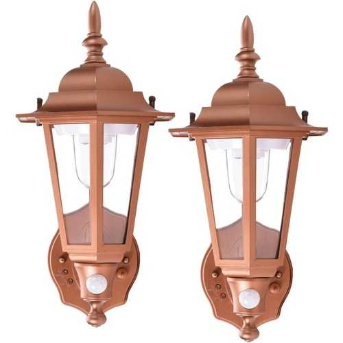 MAXSA Innovations 46719 Battery-Powered Motion-Activated Plastic LED Wall Sconce (Copper)