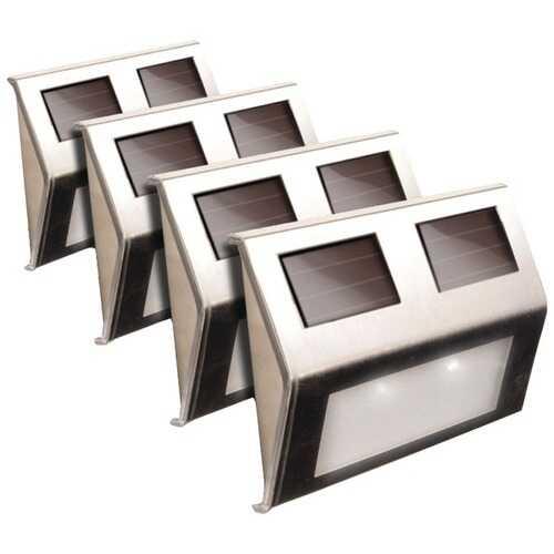 MAXSA Innovations 47334-SS Solar Deck Lights, 4 pk (Stainless Steel)