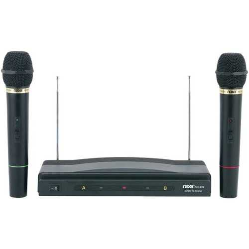 Naxa NAM-984 Professional Dual Wireless Microphone Kit
