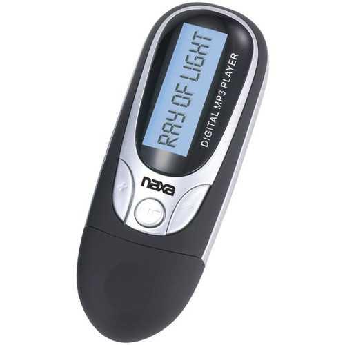 Naxa NM105BK 4GB MP3 Player with FM Radio (Black)