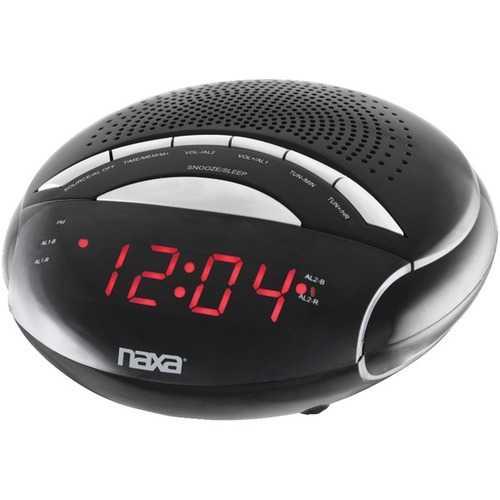 Naxa NRC170 Digital Alarm Clock with AM/FM Radio