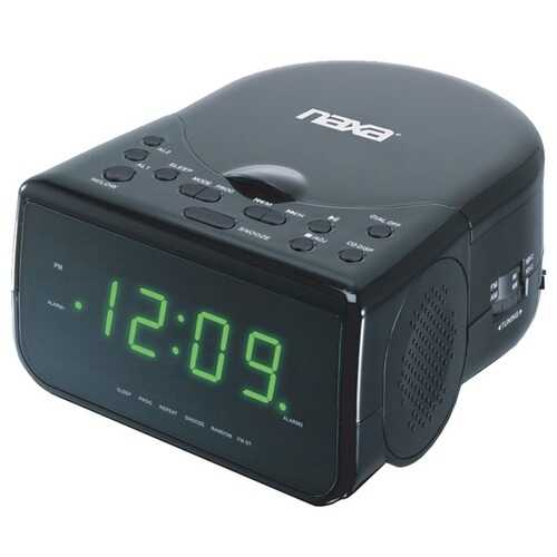 Naxa NRC-176 Digital Alarm Clock Radio with CD Player