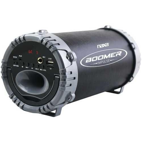 Naxa NAS-3084 GRAY BOOMER IMPULSE LED Bluetooth Boom Box (Gray)