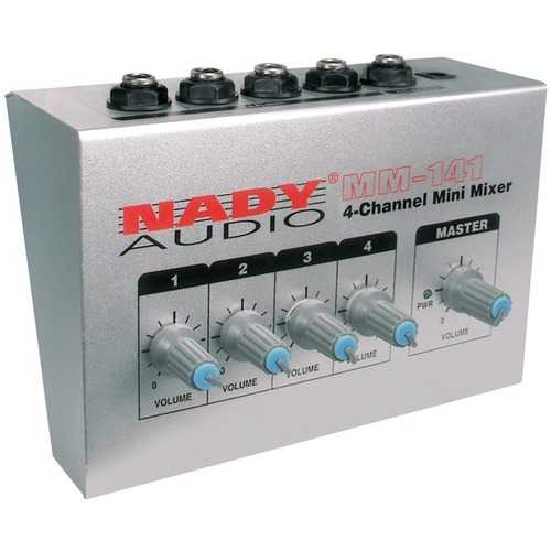 Nady MM-141 4-Channel Mini Audio Mixer