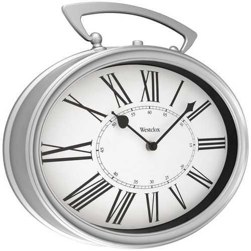 "Westclox 33992 15"" Oval Pocket Watch Wall Clock"