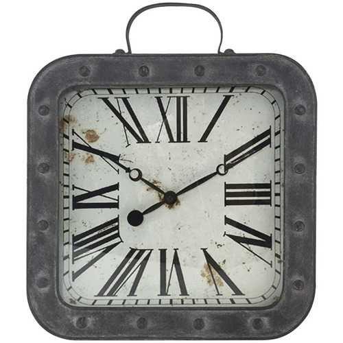 "Westclox 37006 13.75"" Metal Pocket Watch Wall Clock"