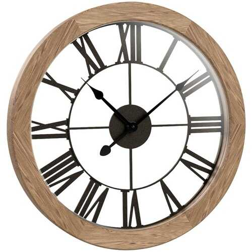 "Westclox 38004 15"" Round Wood Wall Clock"