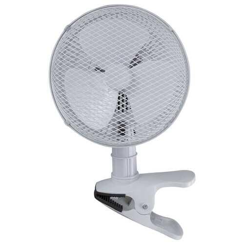 Optimus F-0702 2-Speed 16-Watt 7-Inch Personal Clip-on Fan