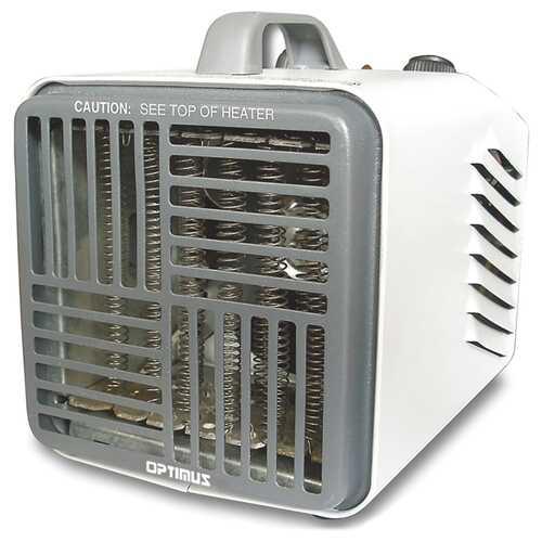 Optimus H-3001 3-Speed 750-Watt/1,500-Watt Portable Mini Heater with Thermostat