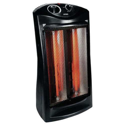 Optimus H-5235 750-Watt/1,500-Watt Fan-Forced Quartz Tower Radiant Heater with Thermostat