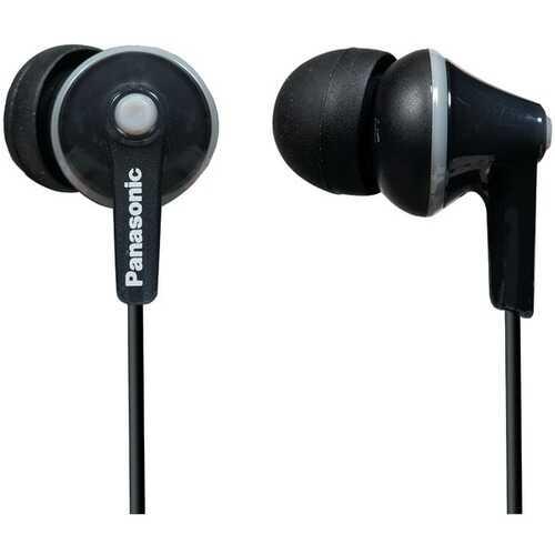Panasonic RP-HJE125-K HJE125 ErgoFit In-Ear Earbuds (Black)