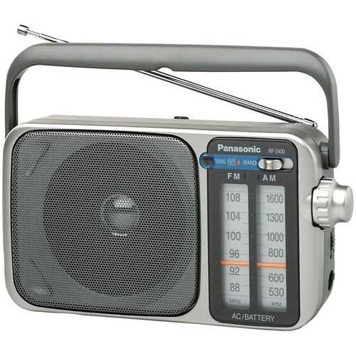 Panasonic RF-2400 AM/FM AC/DC Portable Radio