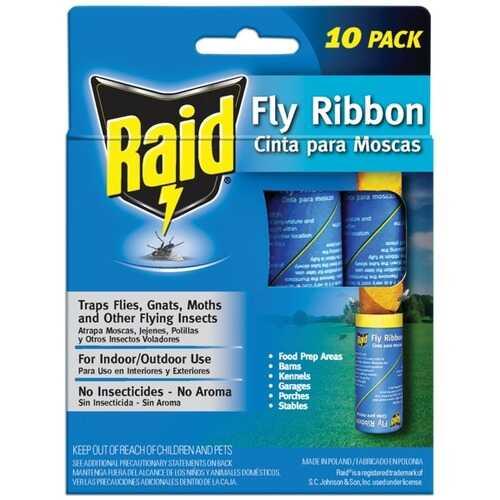 Raid FR10B-RAID Fly Ribbon, 10 pk