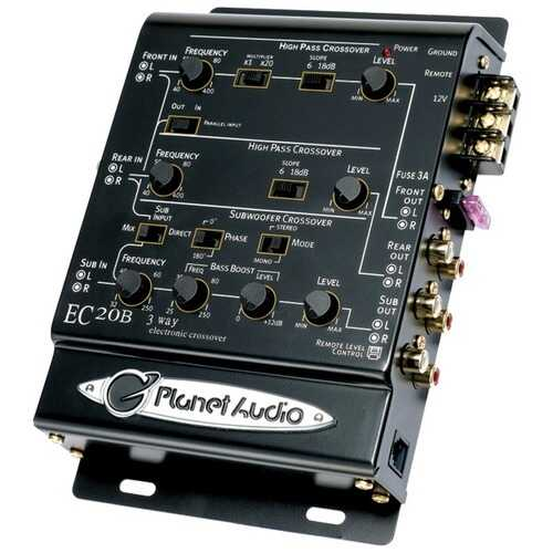 Planet Audio(R) EC20B 3-Way Electronic Crossover
