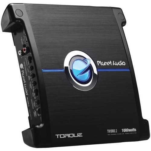 Planet Audio(R) TR1000.2 Torque Series 1,000-Watt. 2-Channel Full-Range Class AB Amp