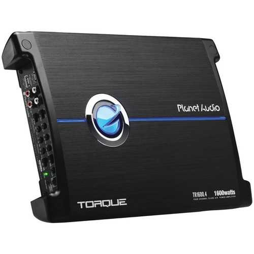 Planet Audio(R) TR1600.4 Torque Series 4-Channel Full-Range Class AB Amp (1,600 Watts)