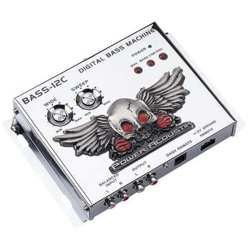 Power Acoustik(R) BASS-12C BASS-12C Digital Bass Machine with Chrome Finish & Subsonic Filter