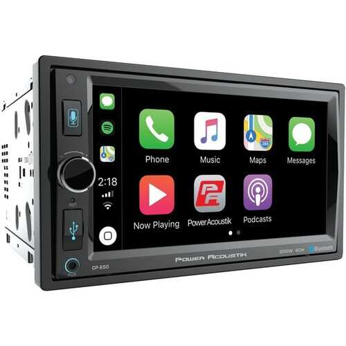 "Power Acoustik CP-650 6.5"" In-Dash Double-DIN Digital Media Receiver with Bluetooth & Apple CarPlay"