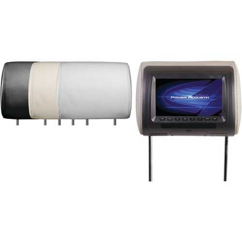 "Power Acoustik H-71CC Universal Headrest Monitor with IR Transmitter & 3 Interchangeable Skins (7"")"