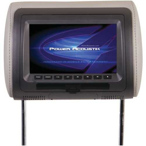 """Power Acoustik HDVD-71CC 7"""" LCD Universal Headrest Monitor with DVD, IR & FM Transmitters & 3 Interchangeable Skins"""