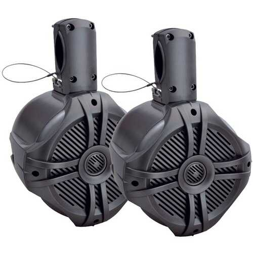 "Power Acoustik MWT-65T Marine-Grade 6.5"" 500-Watt Wake Tower Enclosure & Speaker System (Titanium)"