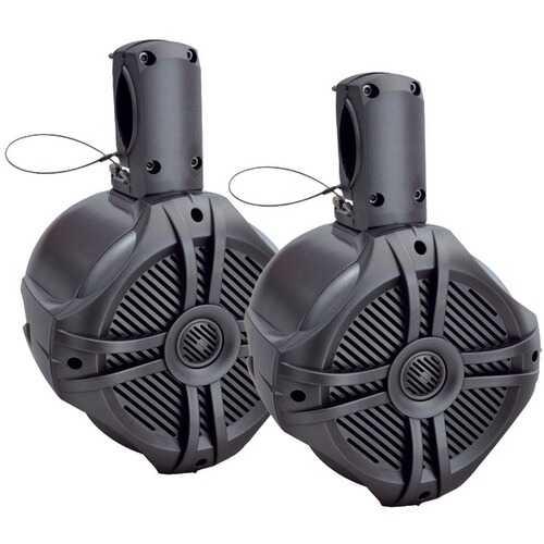 "Power Acoustik MWT-80T Marine-Grade 8"" 750-Watt Wake Tower Enclosure & Speaker System (Titanium)"