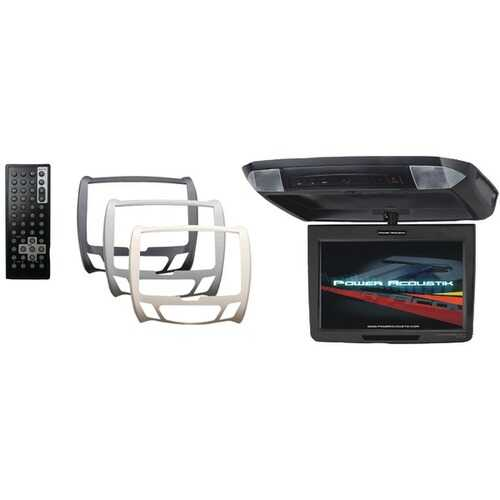 """Power Acoustik PT-110CM 11.2"""" Universal Ceiling-Mount Monitor with IR Transmitter & 3 Interchangeable Skins"""