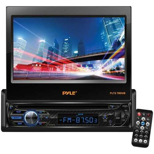 """Pyle PLTS78DUB 7"""" Single-DIN In-Dash DVD Receiver with Motorized Fold-out Touchscreen & Bluetooth"""