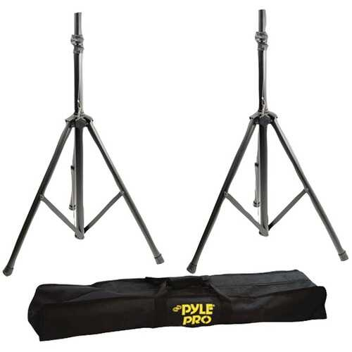 Pyle Pro PSTK103 Dual Heavy-Duty Speaker Stands with Traveling Bag Kit