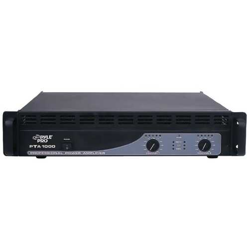 Pyle Pro PTA1000 1,000-Watt, 2-Channel Professional Power Amp with Bluetooth