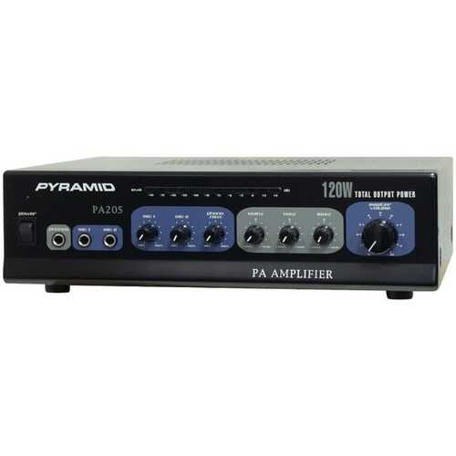 Pyramid PA205 Amp with Microphone Input (120 Watt)
