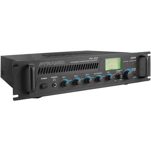 Pyramid PA305 Amp with Microphone Input (300 Watt)