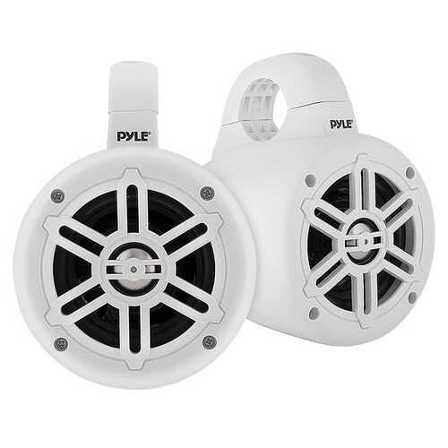 Pyle PLMRWB45W 4-Inch 300-Watt-Max Waterproof Marine Wakeboard Tower Speakers