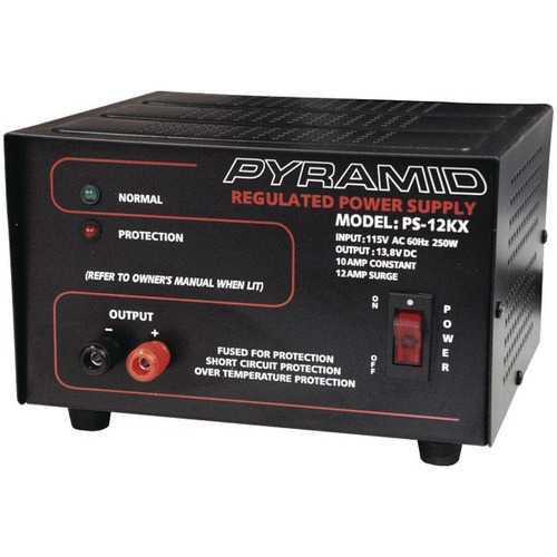 Pyramid Car Audio PS12KX Power Supply (250 Watts Input, 10 Amp Constant)