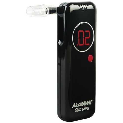AlcoHAWK AH2800S Precision Ultra Slim Breathalyzer with 50-Pack of PT500 Mouthpeices