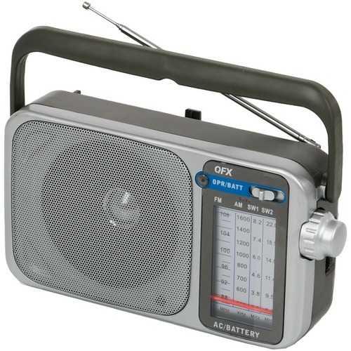 QFX R-24 Retro AM/FM/SW1 and SW2 Portable Radio