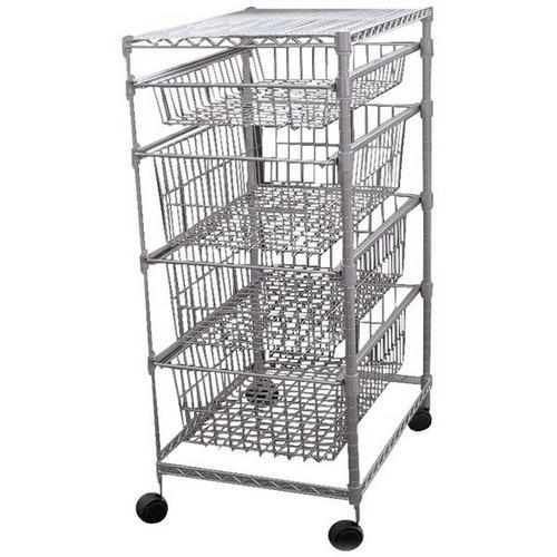 No Logo 30029PET 4-Drawer Storage Cart