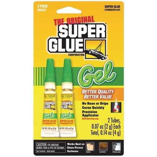 The Original SuperGlue SGG22-12 Thick-Gel Super Glue Tube (Double Pack)